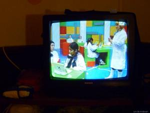 A nationwide TV channel in Uruguay is broadcasting input for use of laptops