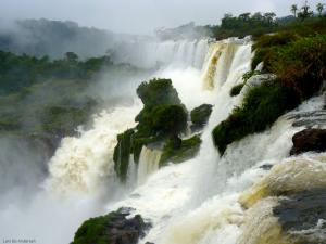 A section of the Cataratas de Iguazú on a cold and rainy day (Argentine/Brazil/Paraguay)