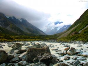 A melt-water stream close to Mt. Cook (New Zealand)