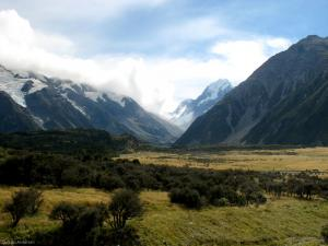 A valley close to Mt. Cook (New Zealand)