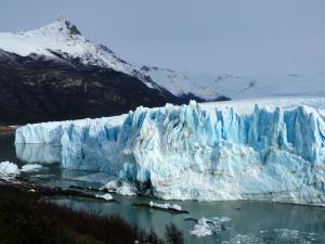 A westward view from the viewing platform at the Perito Moreno glazier (Argentine)
