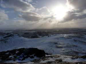 View from the top of Salisbury Crags on a winter day (Edinburgh)