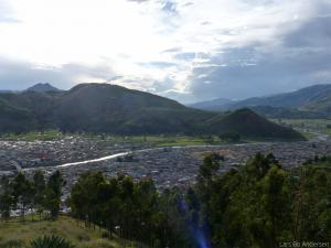 Sicuani as seen from above (Peru)
